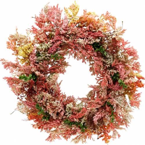 Guirlande de fleurs artificielles Couronne de bruyère Fleurs de soie rose