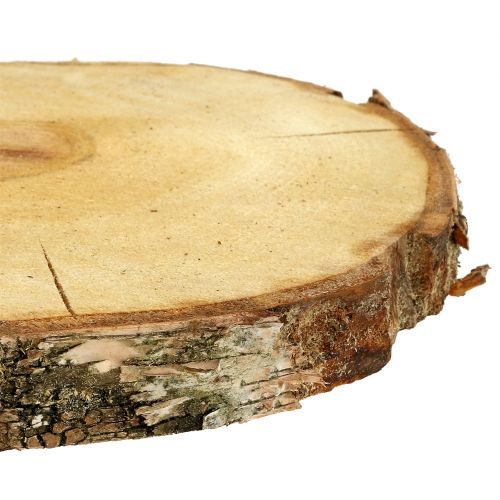 Tranche de bouleau naturelle Ø30cm - 35cm