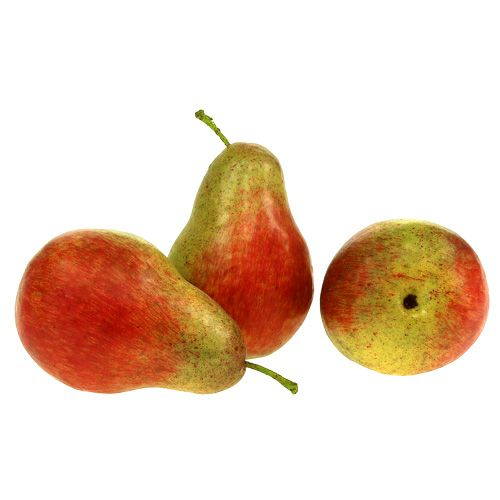 Poire rouge, verte 11cm - 12cm 3pcs