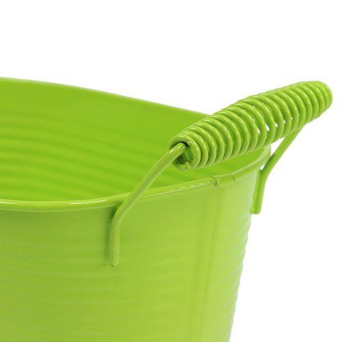 Plat en étain ovale vert pomme 20cm x 12cm x 9cm