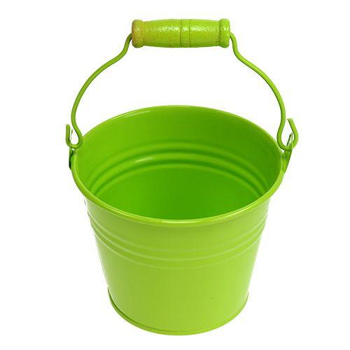 Seau étain mix vert Ø10cm H8cm 10pcs