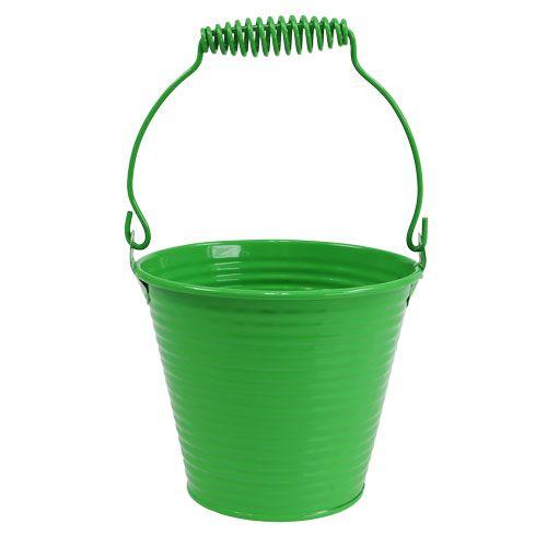 Seau décoratif vert Ø11cm H9.5cm