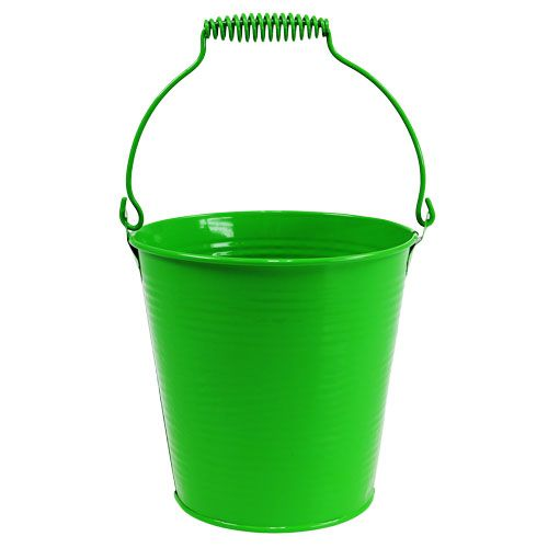 Seau à rainures vert Ø15cm H14.5cm