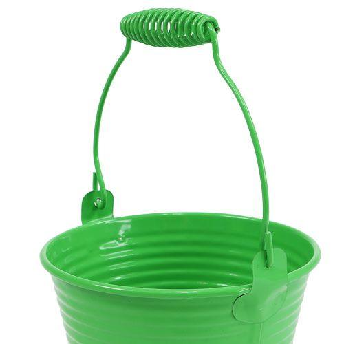 Seau décoratif vert clair Ø11cm H9.5cm