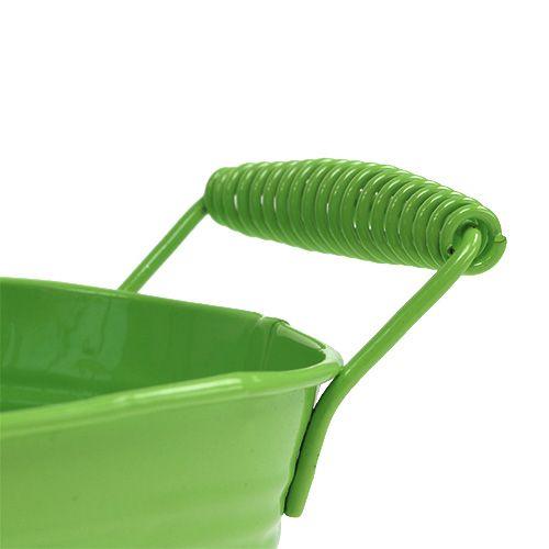 Bol en étain vert ovale 20cm x 12cm H9cm