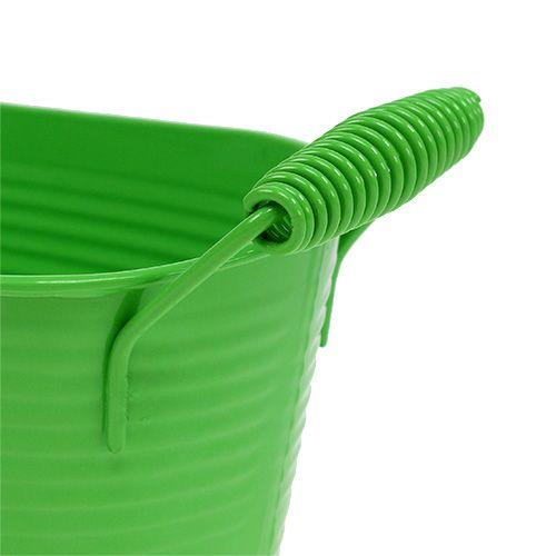 Plat en étain ovale vert clair 20cm x 12cm x 9cm