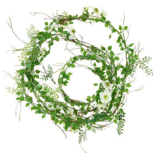 Guirlande de fleurs blanche 180cm