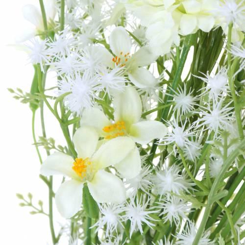 Bouquet d'asters Blanc 47cm