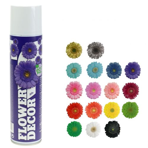 Spray fleur décor floral diverses couleurs 400ml