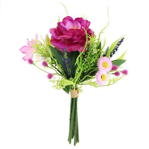 Bouquet de fleurs mauve clair 20 cm
