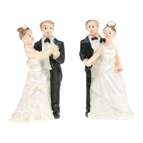Couple de jeunes mariés 6 cm 2 p.