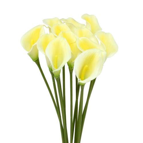 Calla artificiel jaune 57 cm 12 p.
