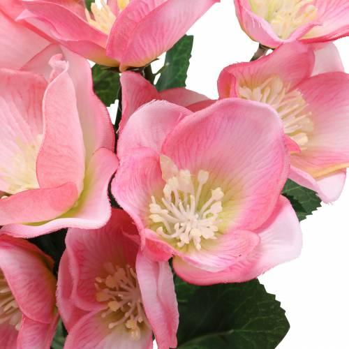 Bouquet De Noel Rose Rose 29cm 4pcs