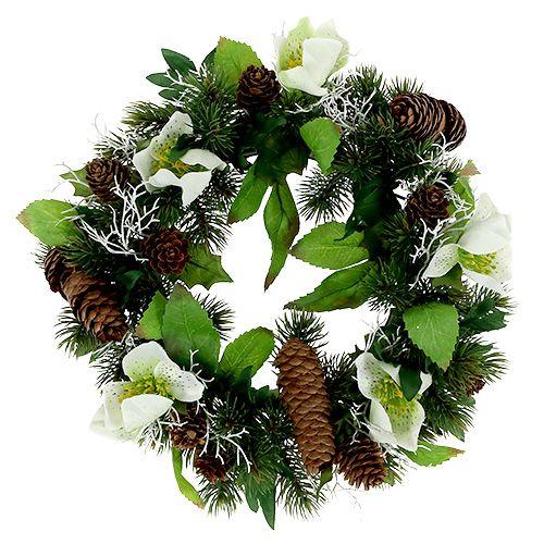 Couronne de roses de Noël Ø 30 cm