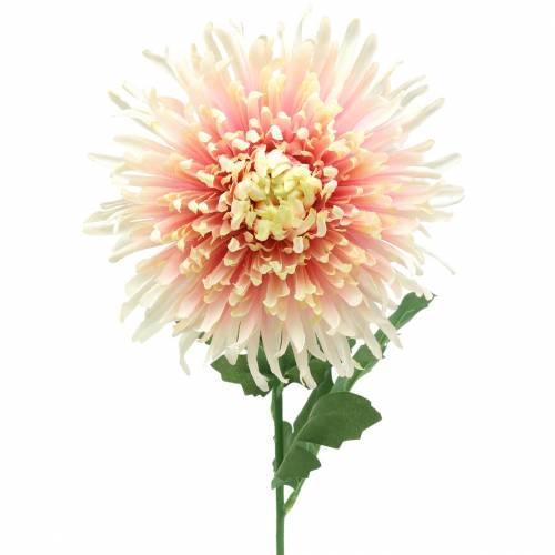Branche de fleur de chrysanthème rose artificielle 64cm
