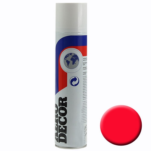 Spray couleur rouge fluorescent 400ml
