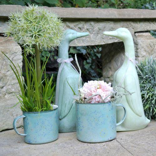 décorative pot à plantes Mandala émaillé Ø 11 cm H.10 cm