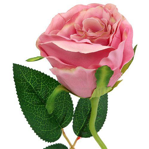 Rose déco Ø6cm Rose foncé L50cm 1P