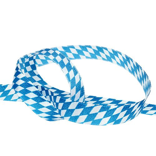 Ruban déco bleu-blanc 15mm 20m