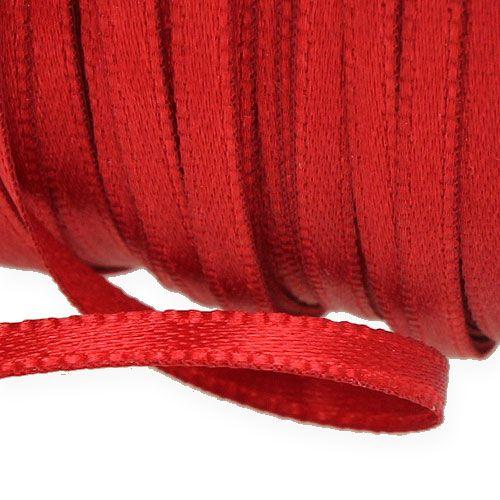 Ruban cadeau et décoration 3 mm x 50 m rouge clair