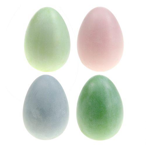 Assortiment d'oeufs de Pâques couleurs pastel H10cm 8pcs