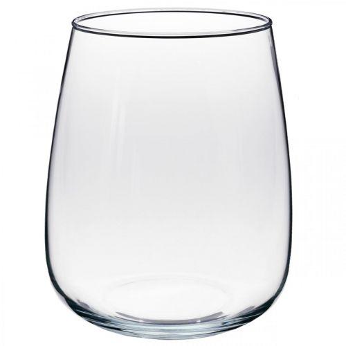 Vase décoratif, vase à fleurs, vase en verre Ø19cm H23cm