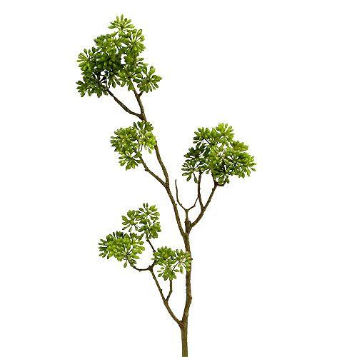 Branche décorative verte 80 cm