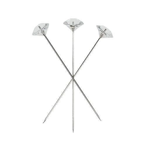 Aiguilles diamant Ø11mm trans clair 55pcs