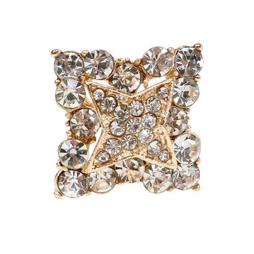 Épingle dorée diamants spécial mariage 7 cm 9 p.