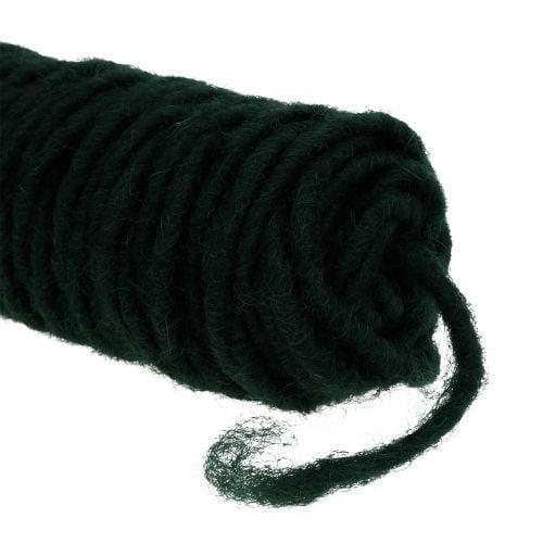 Fil mèche fil de feutrine vert foncé 55 m
