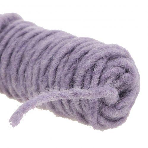Fil de mèche feutre cordon violet 55m