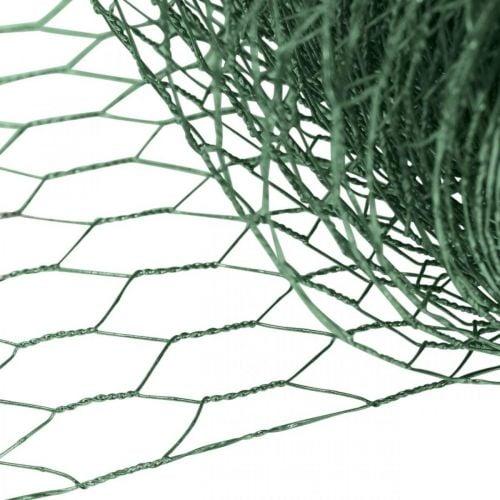 Maille hexagonale fil vert Maille métallique enduite PVC 50cm × 10m