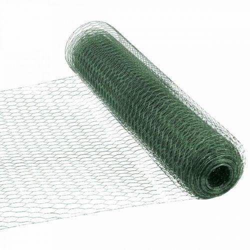 Maille hexagonale grillage enduit de PVC de fil vert 50cm × 10m