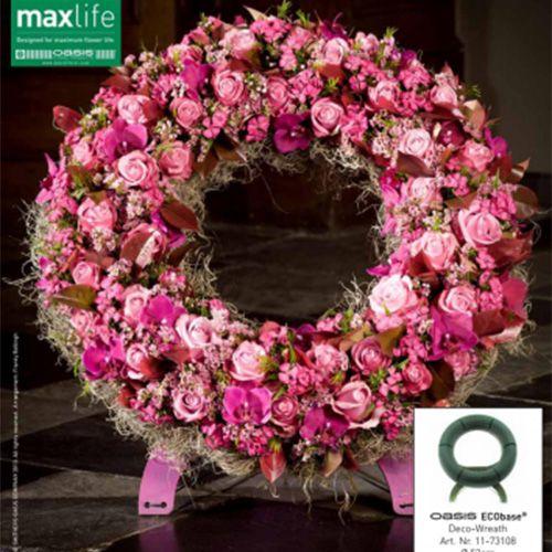 Couronne florale en mousse avec support Ø50cm