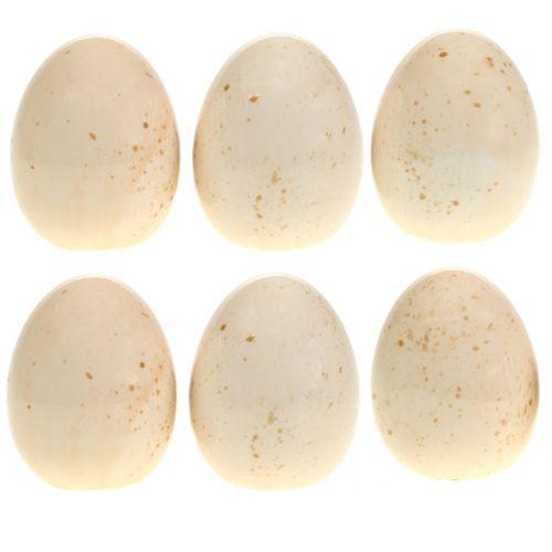 Œufs déco en céramique H6cm 6pcs