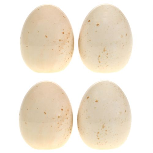 Œufs déco en céramique H8,5cm 4pcs