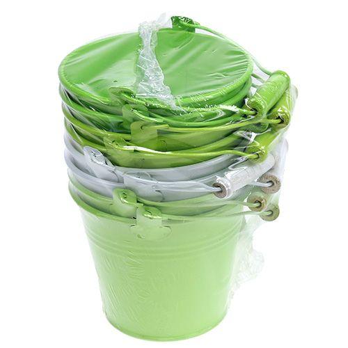 Seau mélange vert Ø12cm H10cm 8pcs