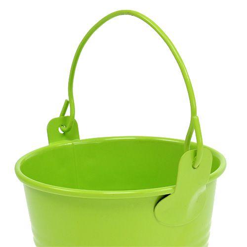 Seau vert mix Ø8cm H7cm 12pcs