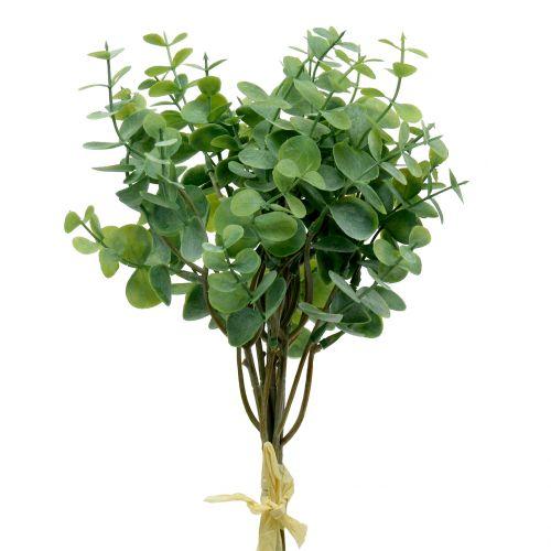 Branche d'eucalyptus artificielle verte 37cm 6pcs