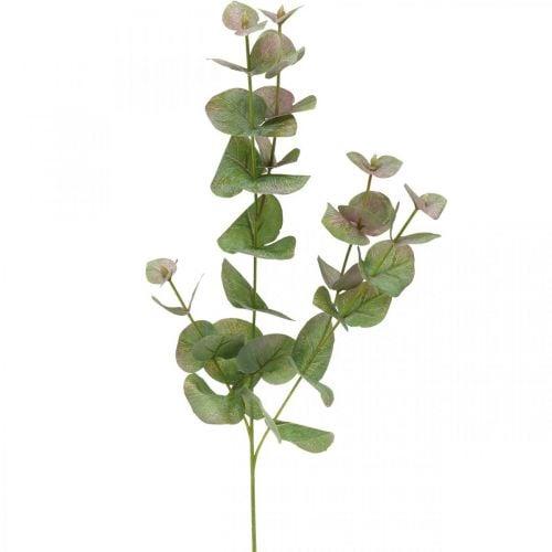 Branche d'eucalyptus artificielle déco plante verte verte, rose 75cm
