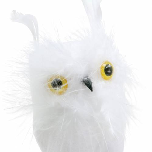 Décoration de bouquet Owl White 10cm 2pcs