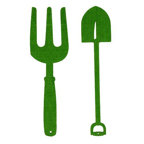 Outils de jardin en feutrine verte 4 p. - boutique en ligne d ...