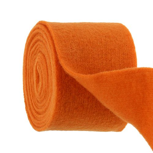 Bande de feutrine 15 cm x 5 m orange