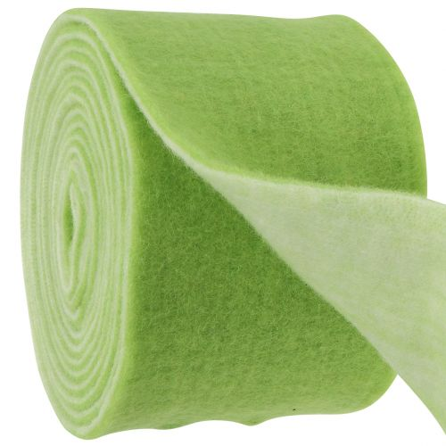 Bande de feutrine 15 x 5 cm bicolore vert, blanc