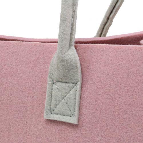 Sac en feutrine rose 50 x 25 x 25 cm