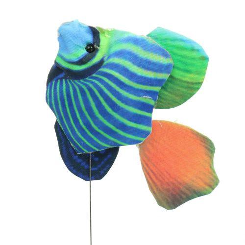 Piques décoratives poisson assortiment multicolore 6 p.