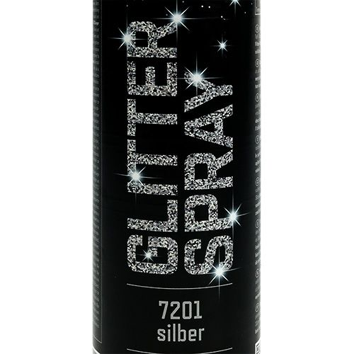 Spray paillettes argent 400ml