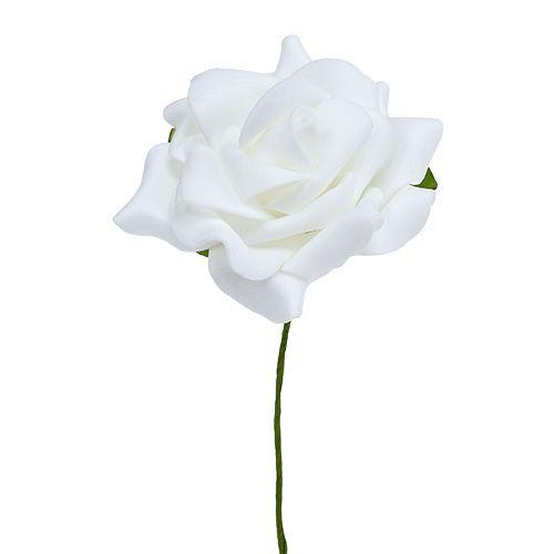 Rose mousse Ø 7.5cm blanc 18pcs