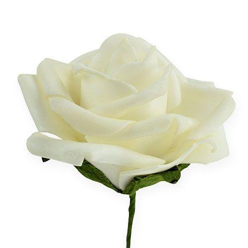 Mousse rose Ø6cm crème 27pcs