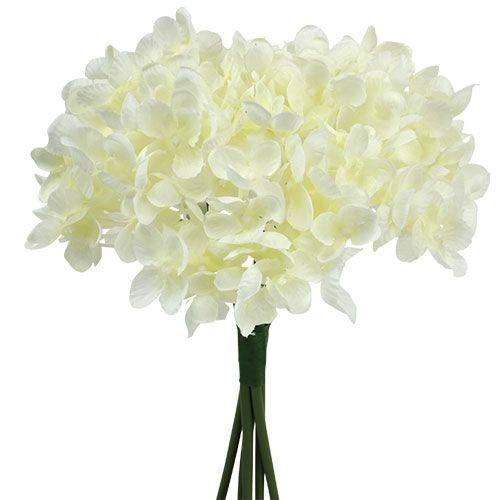 Bouquet d'hortensias artificiels blanc L 25 cm
